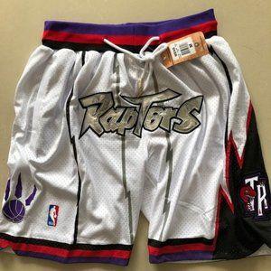 New NBA Just Don Toronto Raptors Basketball Shorts